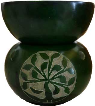 Tree of Life oil diffuser  green soapstone