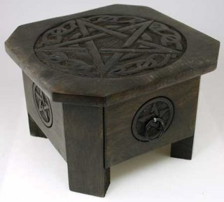 Celtic Pentagram altar table 7 1/2""