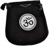 Om Velveteen Black Bag  5""